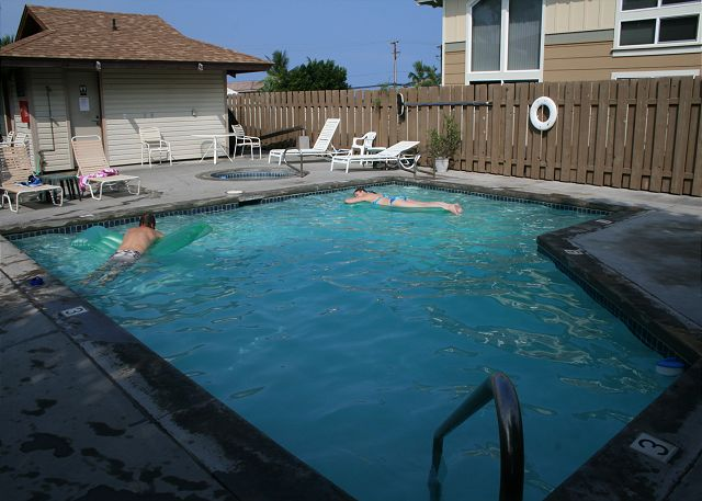 Private pool and enclosed area for guests