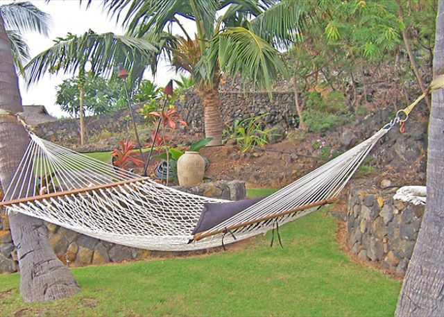 Relax in your own private hammock