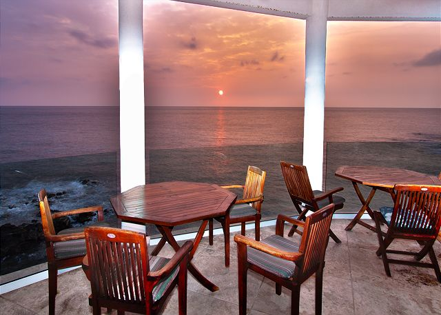 Sunset view from the Dining Room
