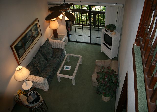 Looking from Loft to Living Room