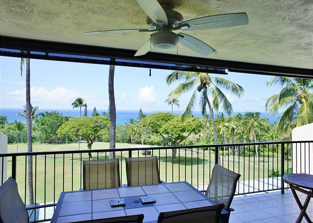 Great Ocean Views from the Spacious Lanai