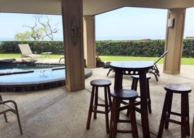 Enjoy ocean views from the new barstool set