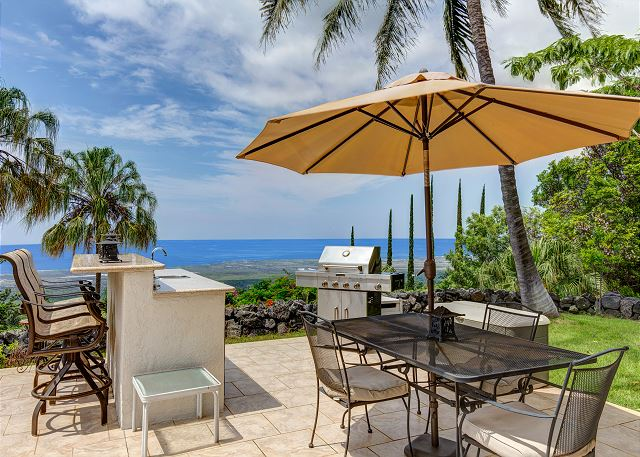 Outdoor Wet Bar and BBQ Area with Great Views