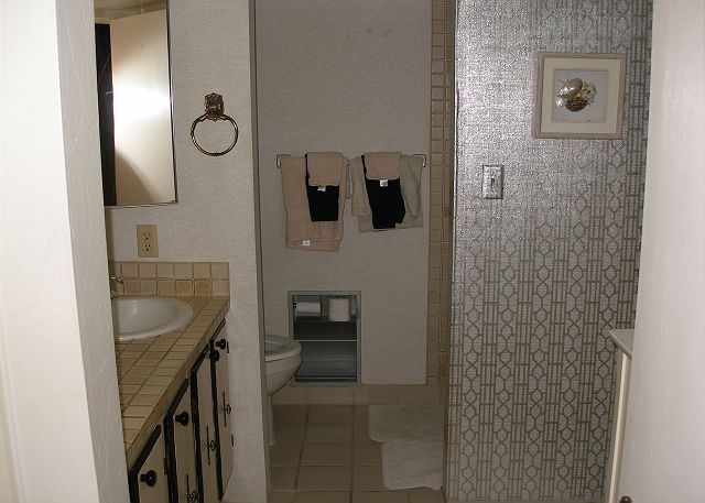 Bath with a shower stall