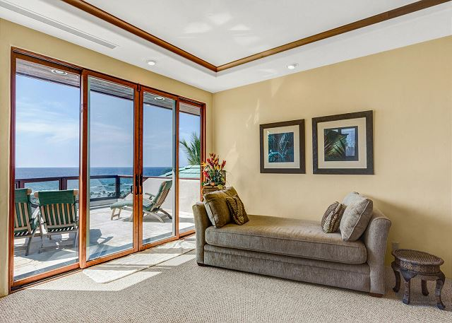 Lounge Area in Master Bedroom off Upper Lanai