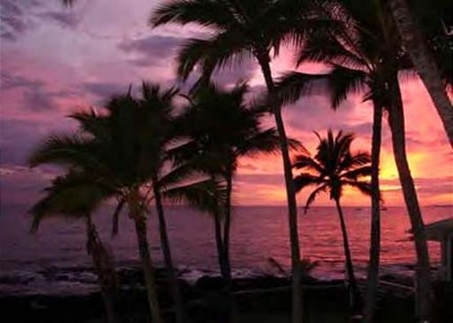 Thee is nothing like a Hawaiian sunset off this lanai!