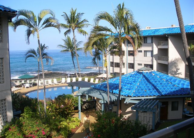 Ocean front pool at the Kona Reef