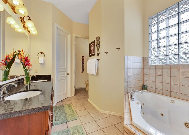 Master Bathroom with Large Tub and Separate Shower
