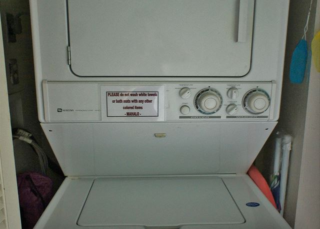In Unit WasherDryer