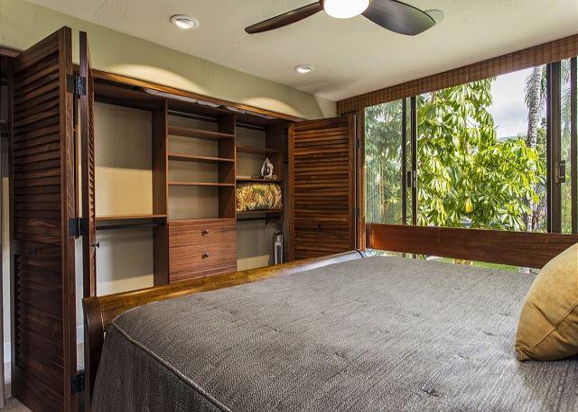 Guest Bedroom with Custom Closet and Mahognay Doors