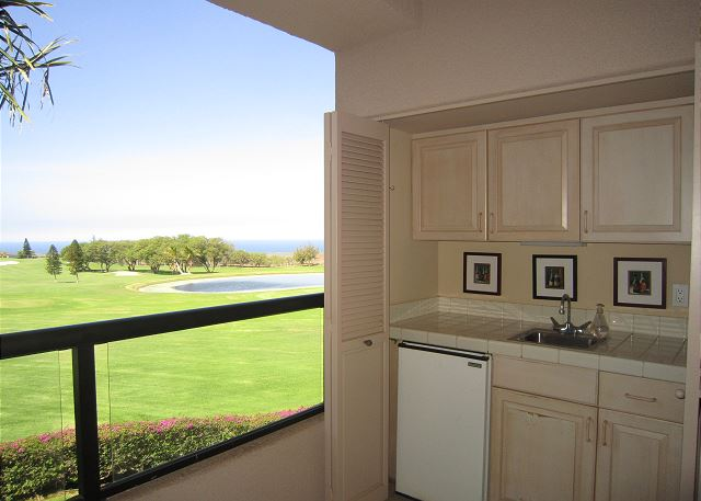 Lanai with Golf  Ocean Views