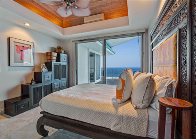 Bedroom Three with access to ocean front lanai