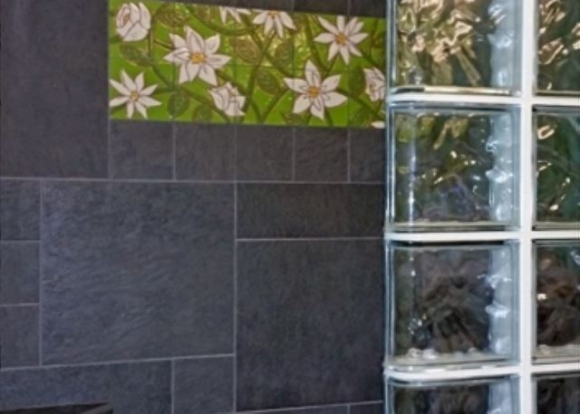Beautifully Tiled Master Shower