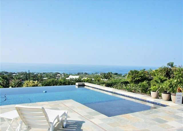 Spectacular Ocean Views from Infinity Pool www.konacoastvacation