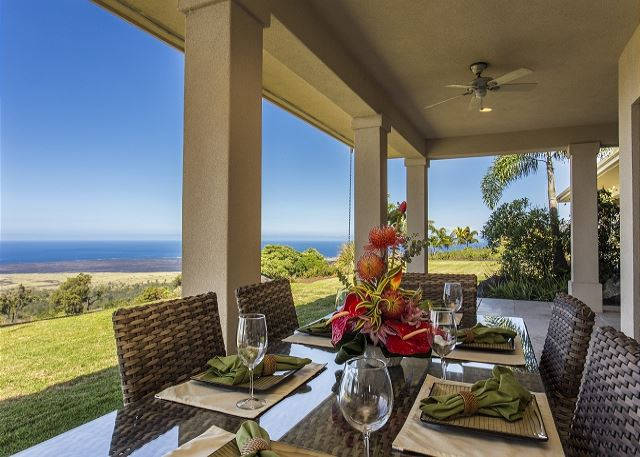 Outdoor Dining with Coastline Views