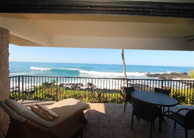 Lanai and Waves, view from Living Room