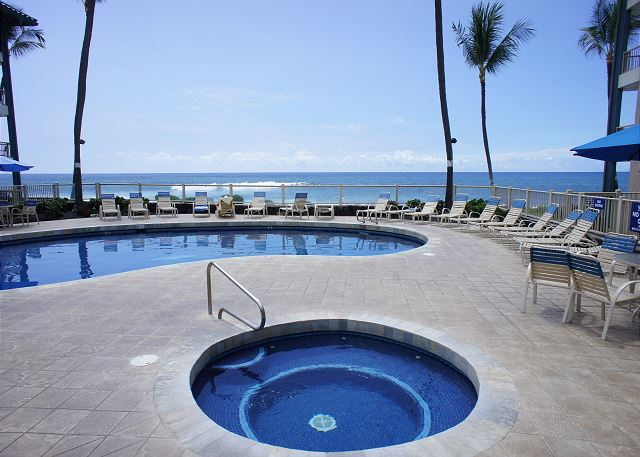 Ocean Front Pool and Spa