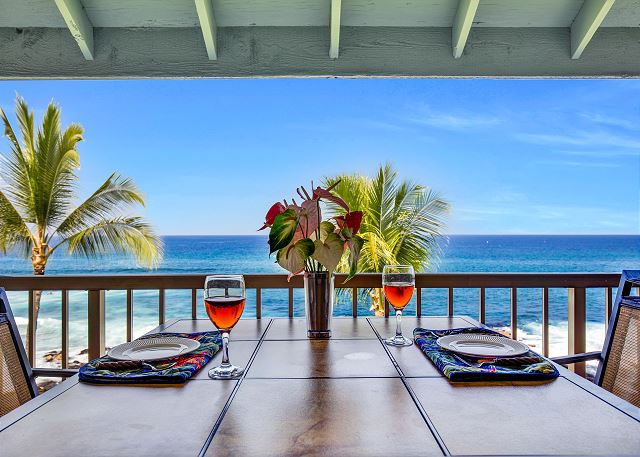 Ocean front dining!
