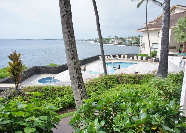 View of Pool and Spa From Lanai