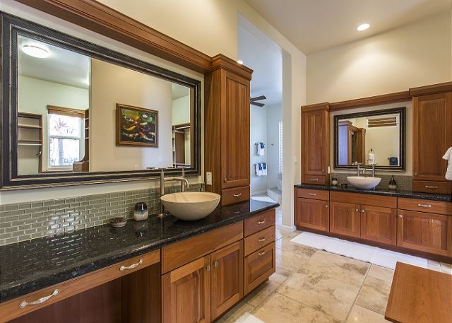Master Bathroom Dual Vanities