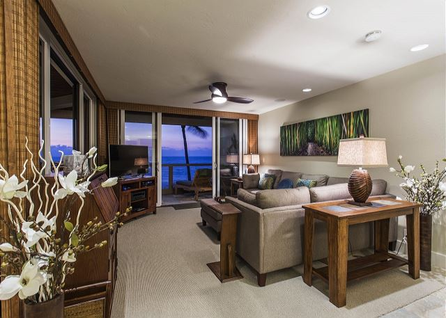 Living Area with Comfortable Sectional and Ocean Views
