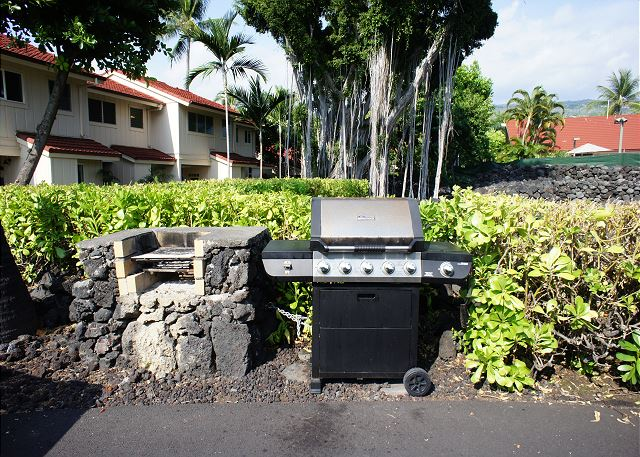 Grill just a short walk from your island home