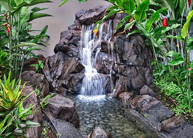 Waterfall Feature Near Entryway