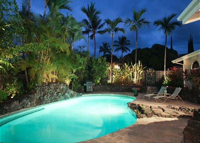 Night View of Private Pool