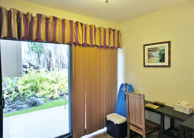 Office Area and Lanai Entry