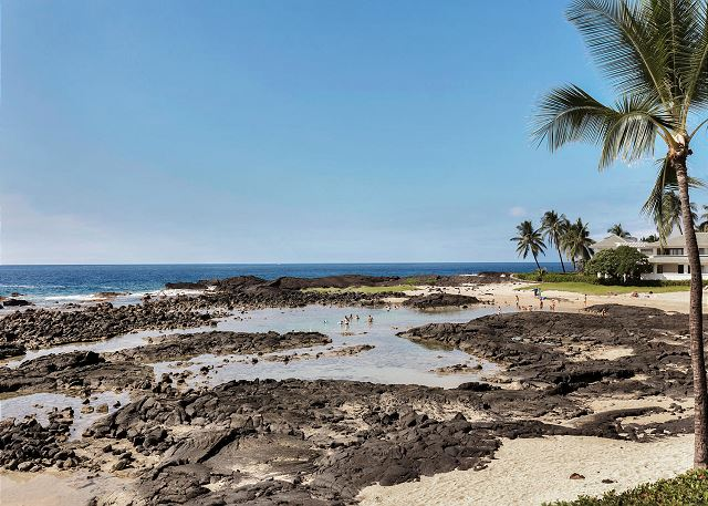 Keiki Beach Just Steps Away  protected swimming ponds great for