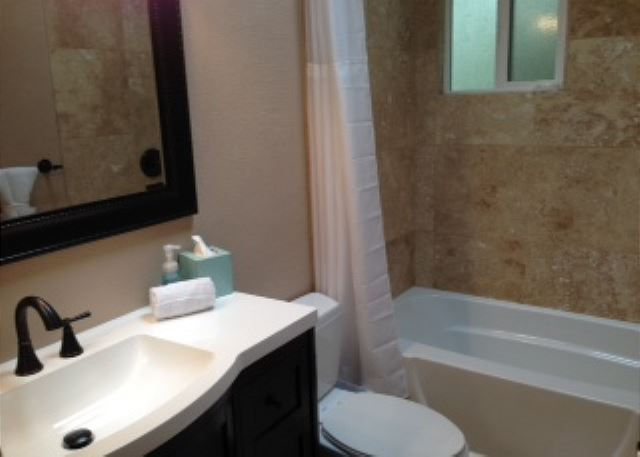 Newly remodeled upstairs guest bathroom