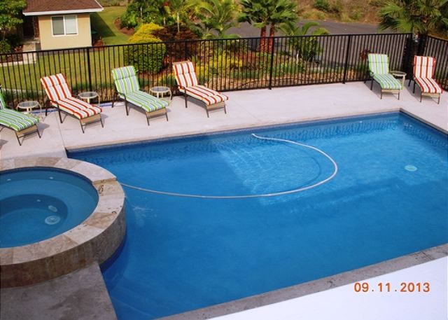 Private Pool view from upstairs Master Lanai