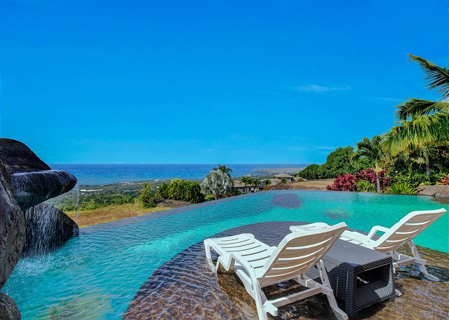 Private Infinity Pool with Soaking Deck and Ocean Views