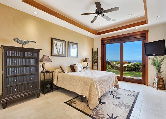 Junior Suite 2 with King Bed Flat Screen TV and Lanai