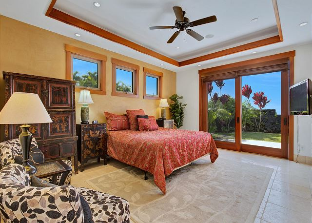 Junior Suite 1 with King Bed Flat Screen TV and Lanai