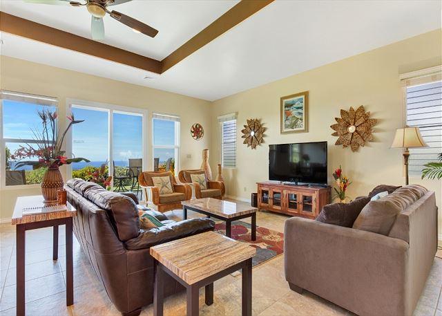Living Area with Large Flatscreen TV
