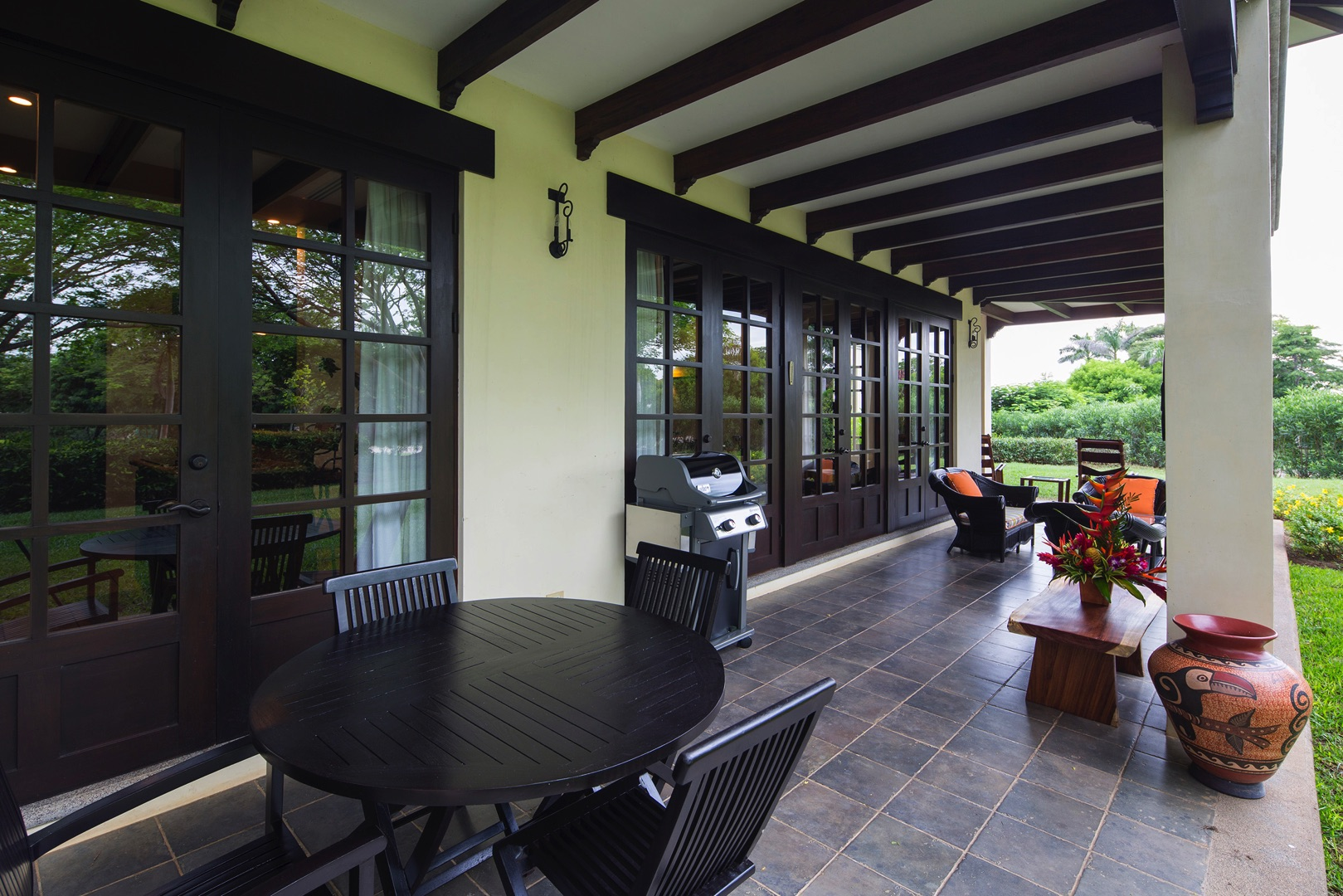 Patio with BBQ and outside sitting