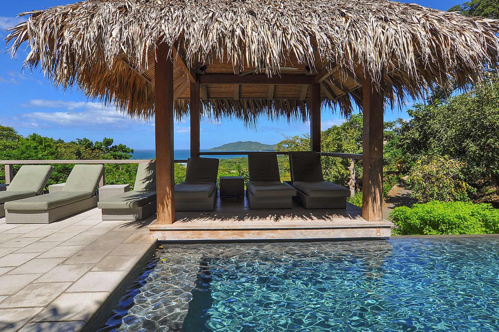 Small palapa next to our infinity pool