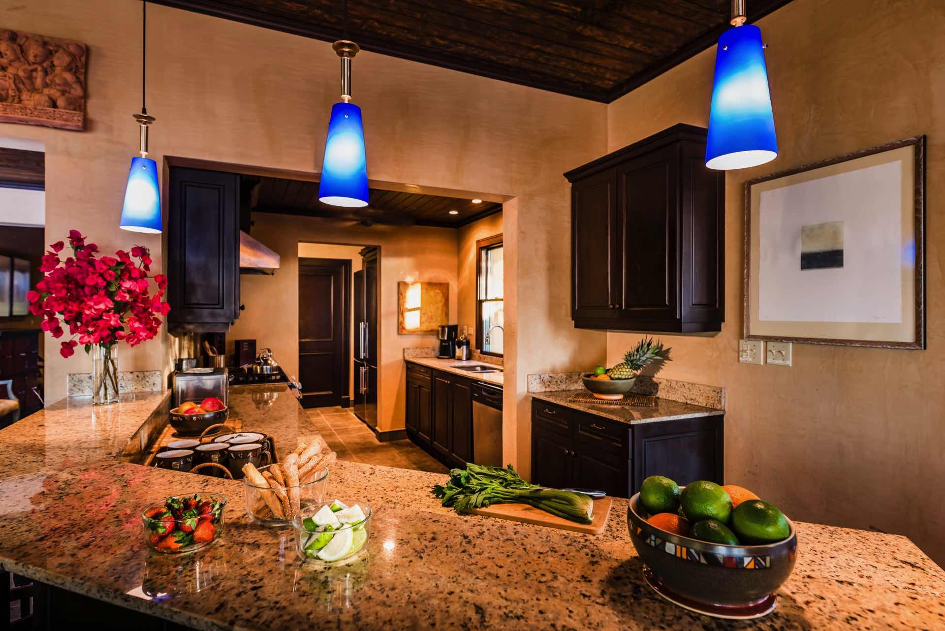 Beautiful kitchen with granite counter-tops
