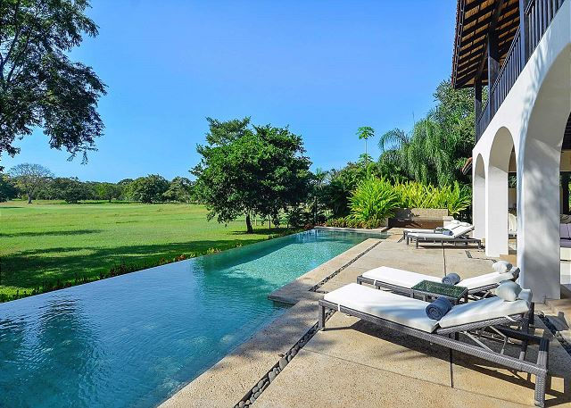 Beautiful open view from our pool lounge area