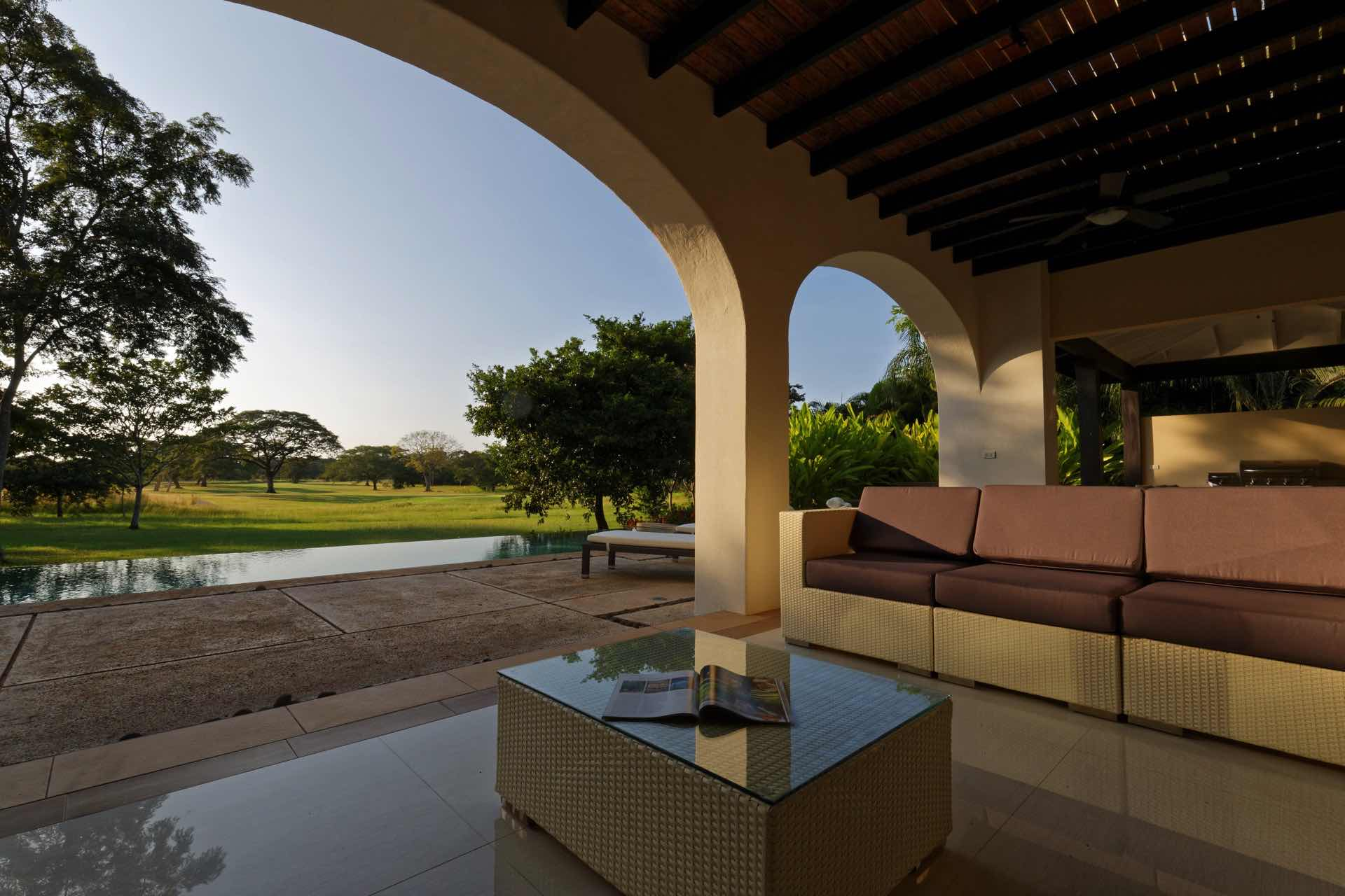 The magic tranquility of sunset at Villa Los Venados