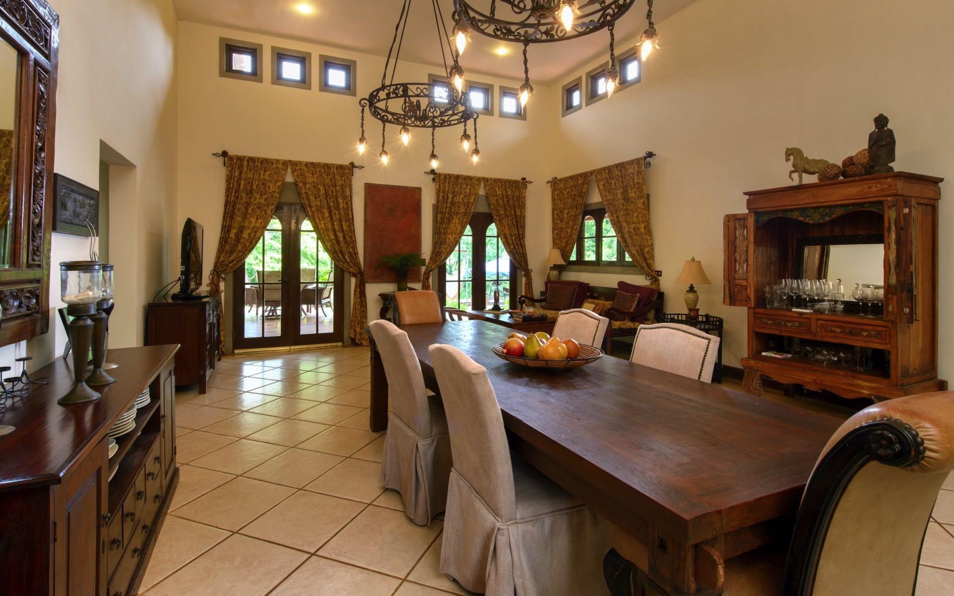Custom tropical hardwood dining table