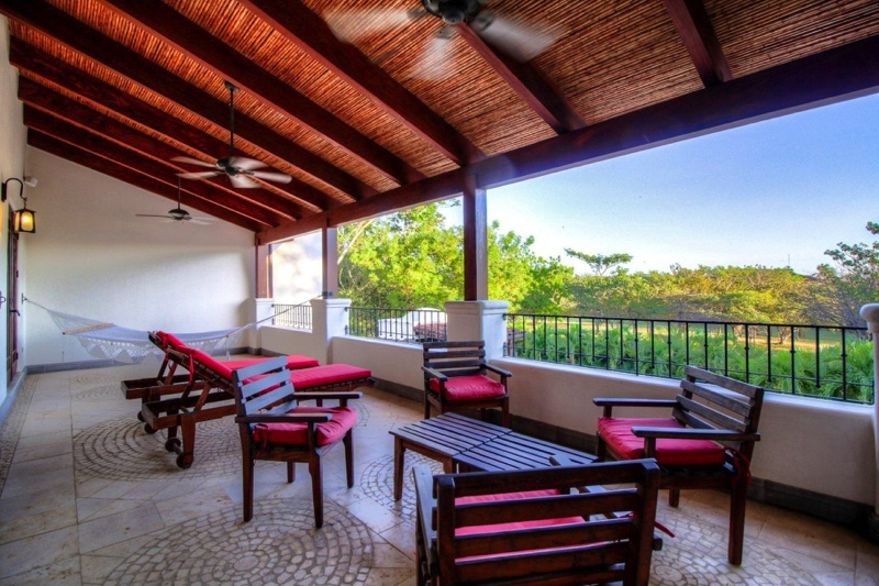 Private terrace to enjoy the sunsets in Hacienda Pinilla