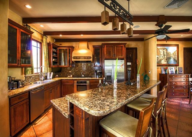 Granite counter-tops, stainless steel appliances