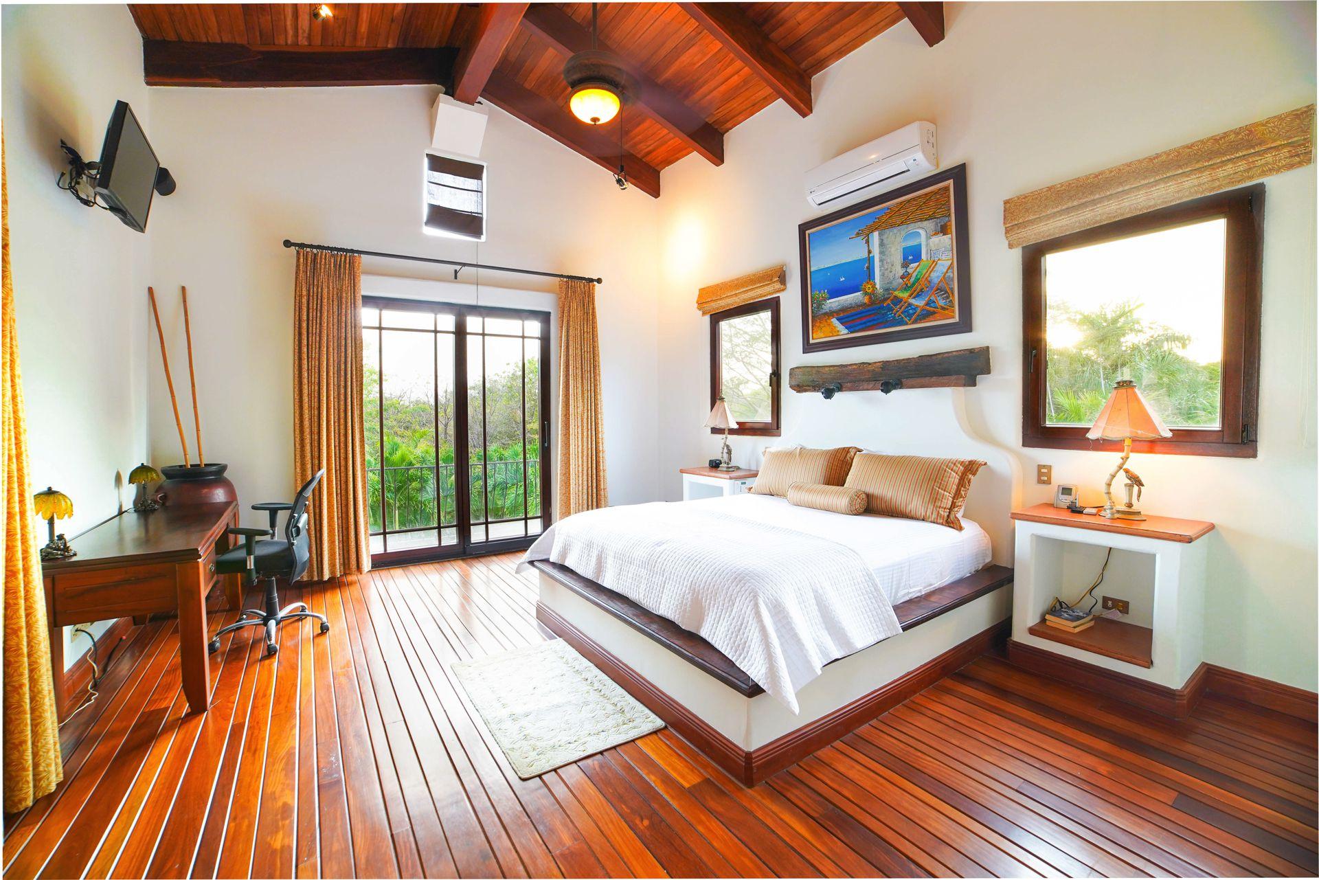 Bedroom opens to backyard