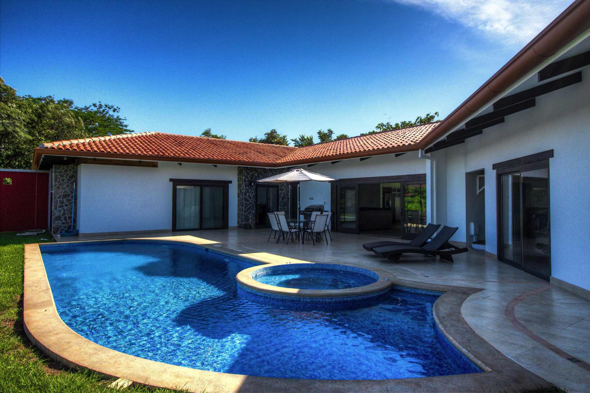 Enjoy our lovely large private pool