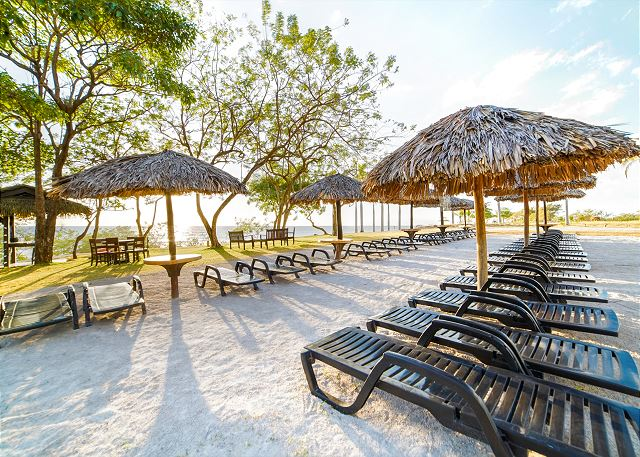 Relax in the lounge chairs and enjoy the view
