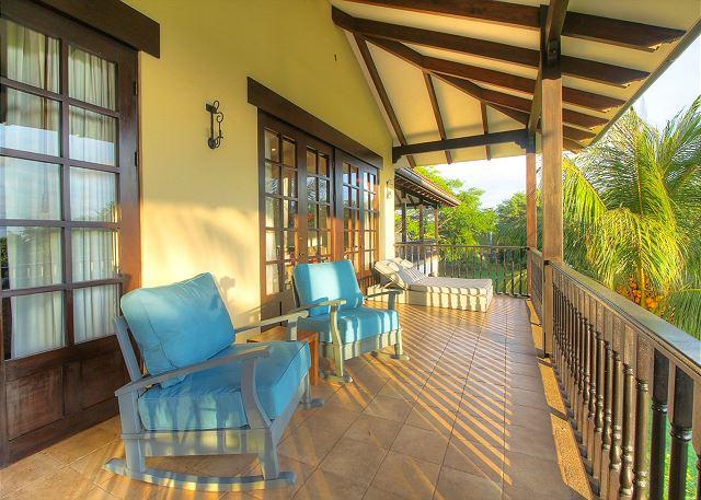 Terraces span both floors of Villa Mansita