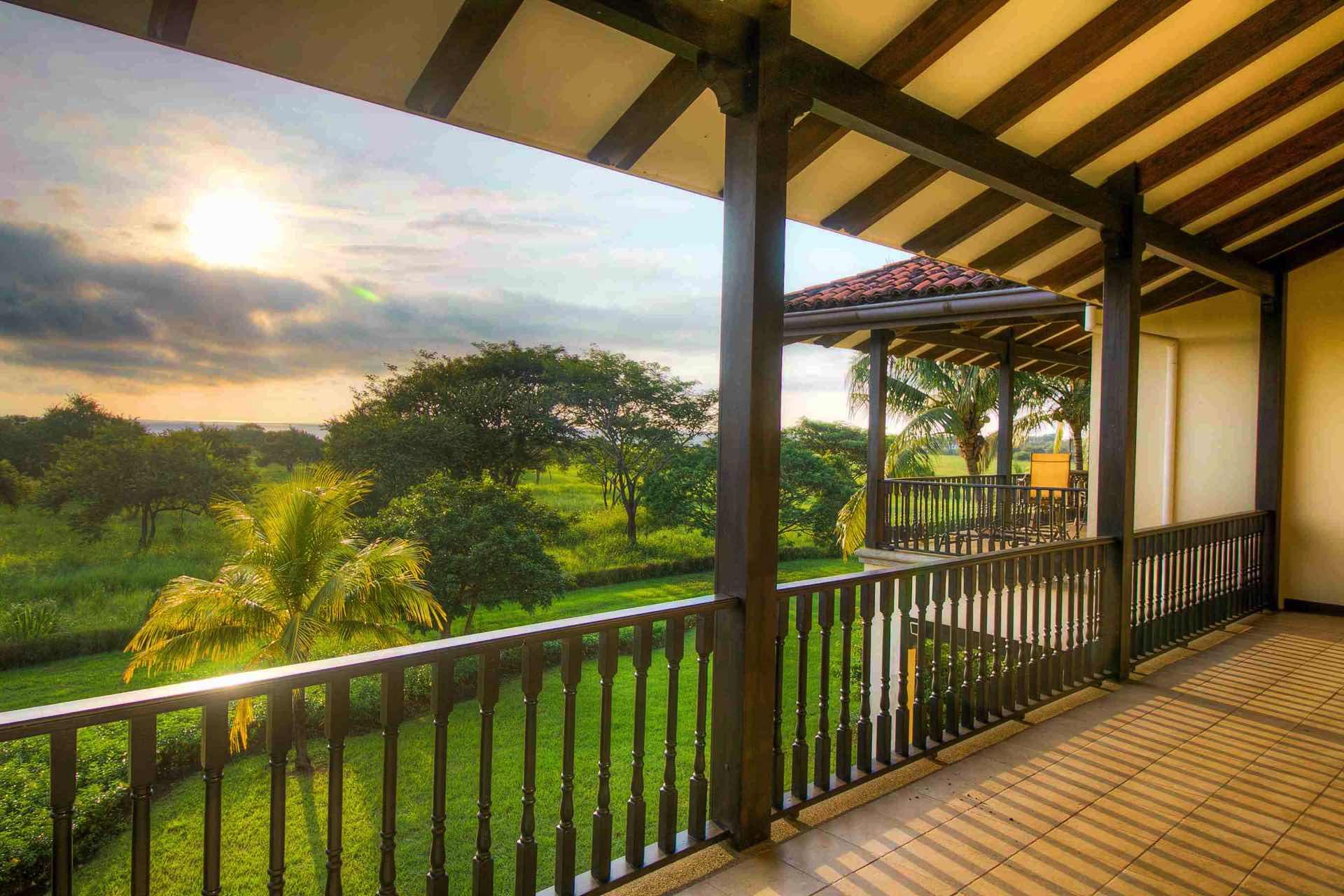 Enjoy sunsets from the balcony of Villa Mansita