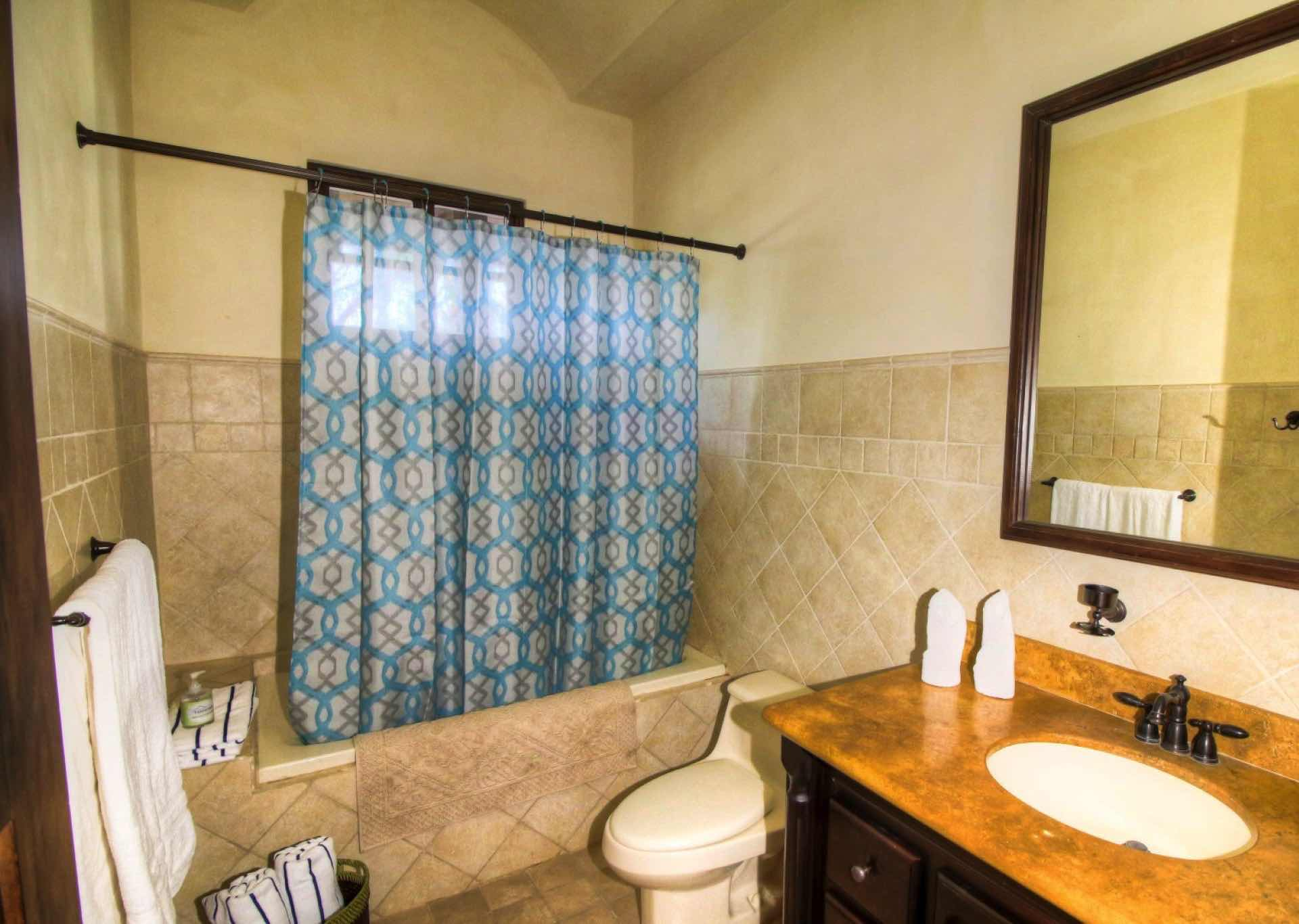 Bathroom with combination shower/tub